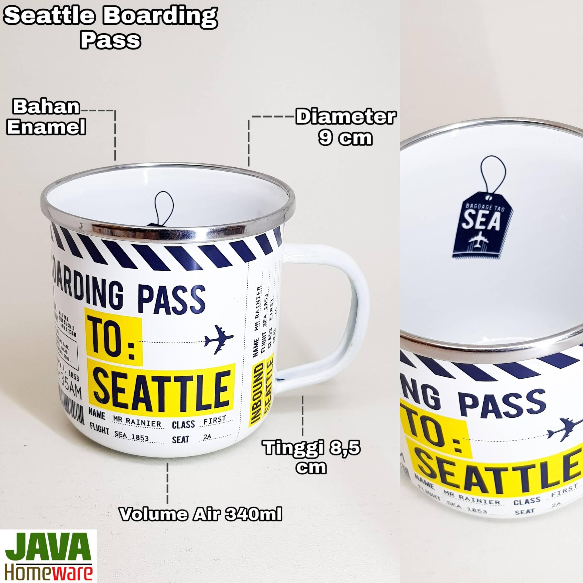 Mug Seattle Boarding Pass
