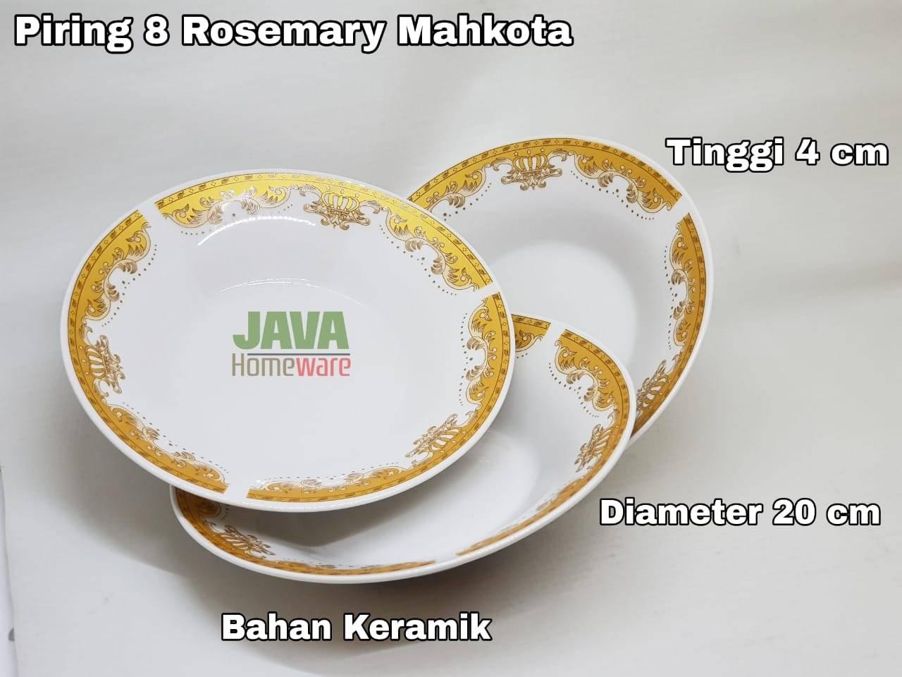 Piring 8 Rosemary Mahkota