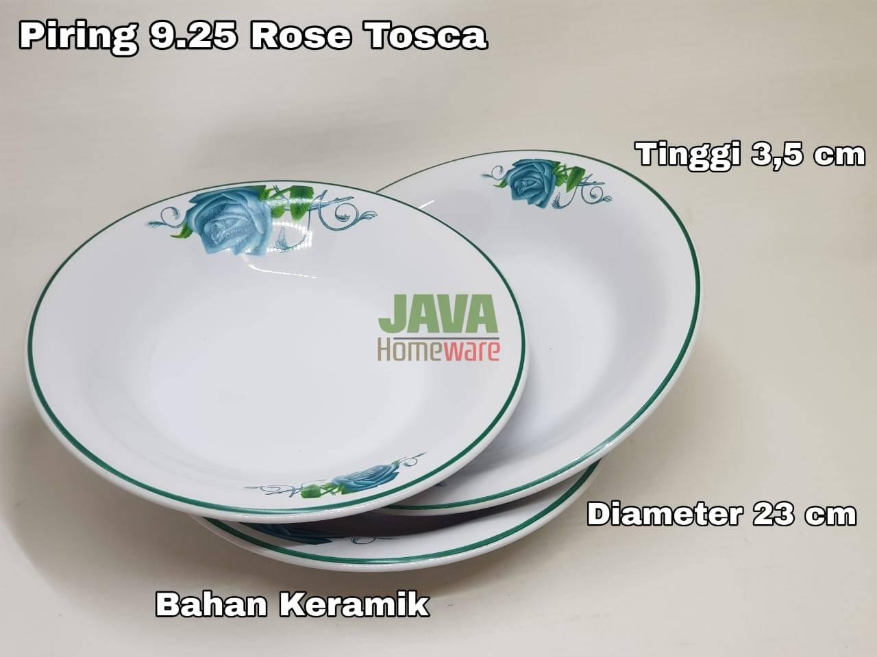 Piring 9.25 Rose Tosca