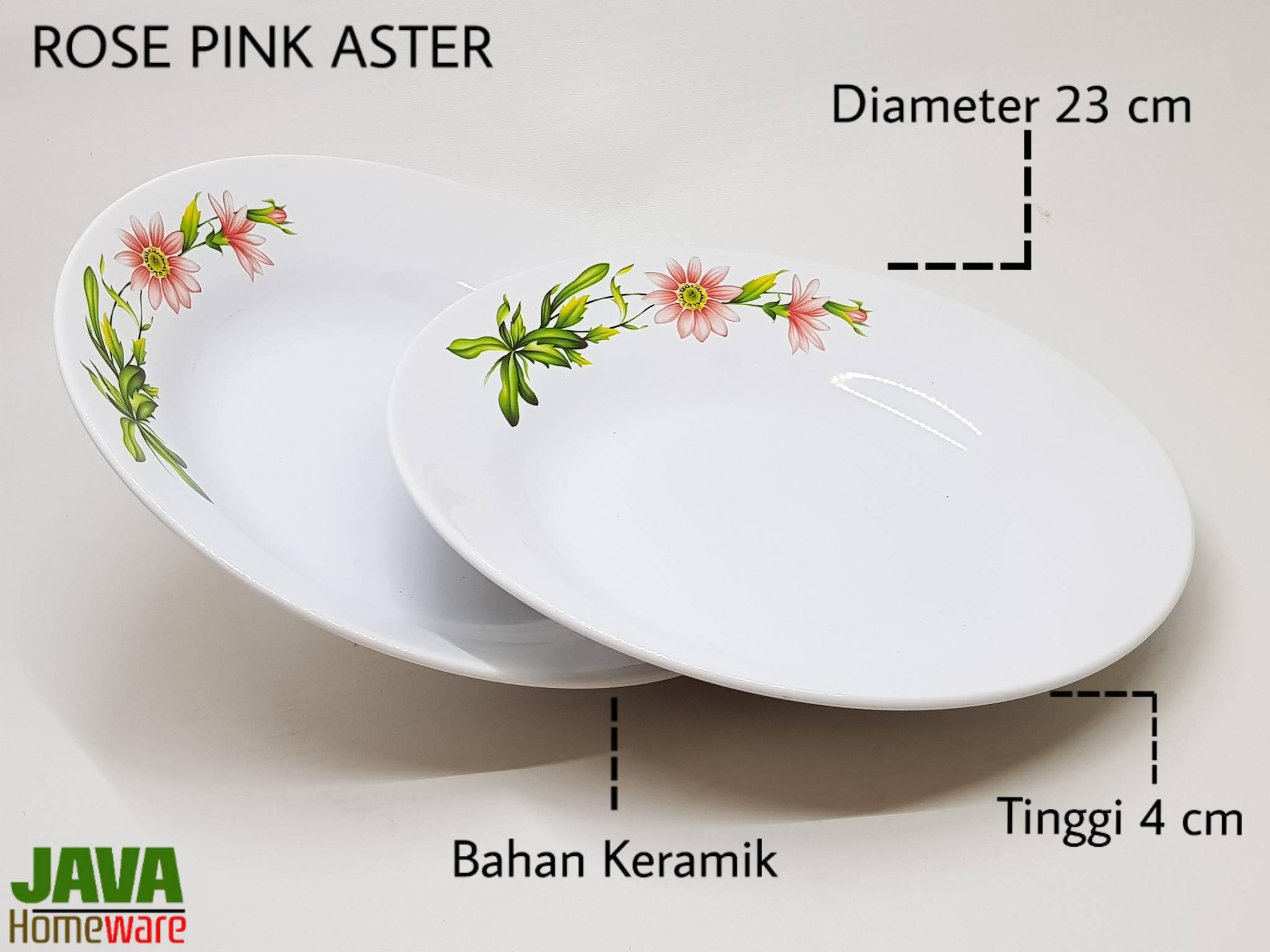 Piring Rose Pink Aster