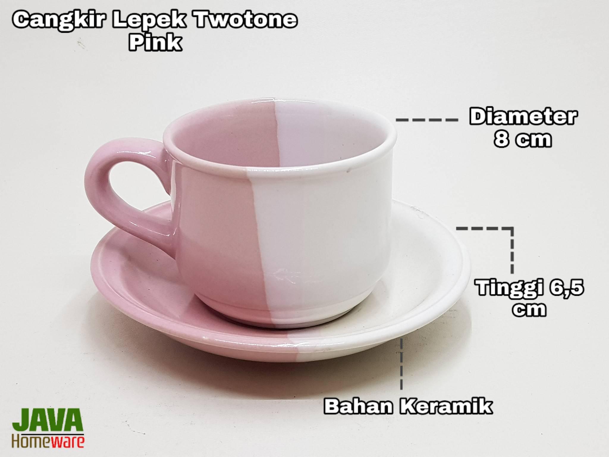 Cangkir Lepek two tone Pink