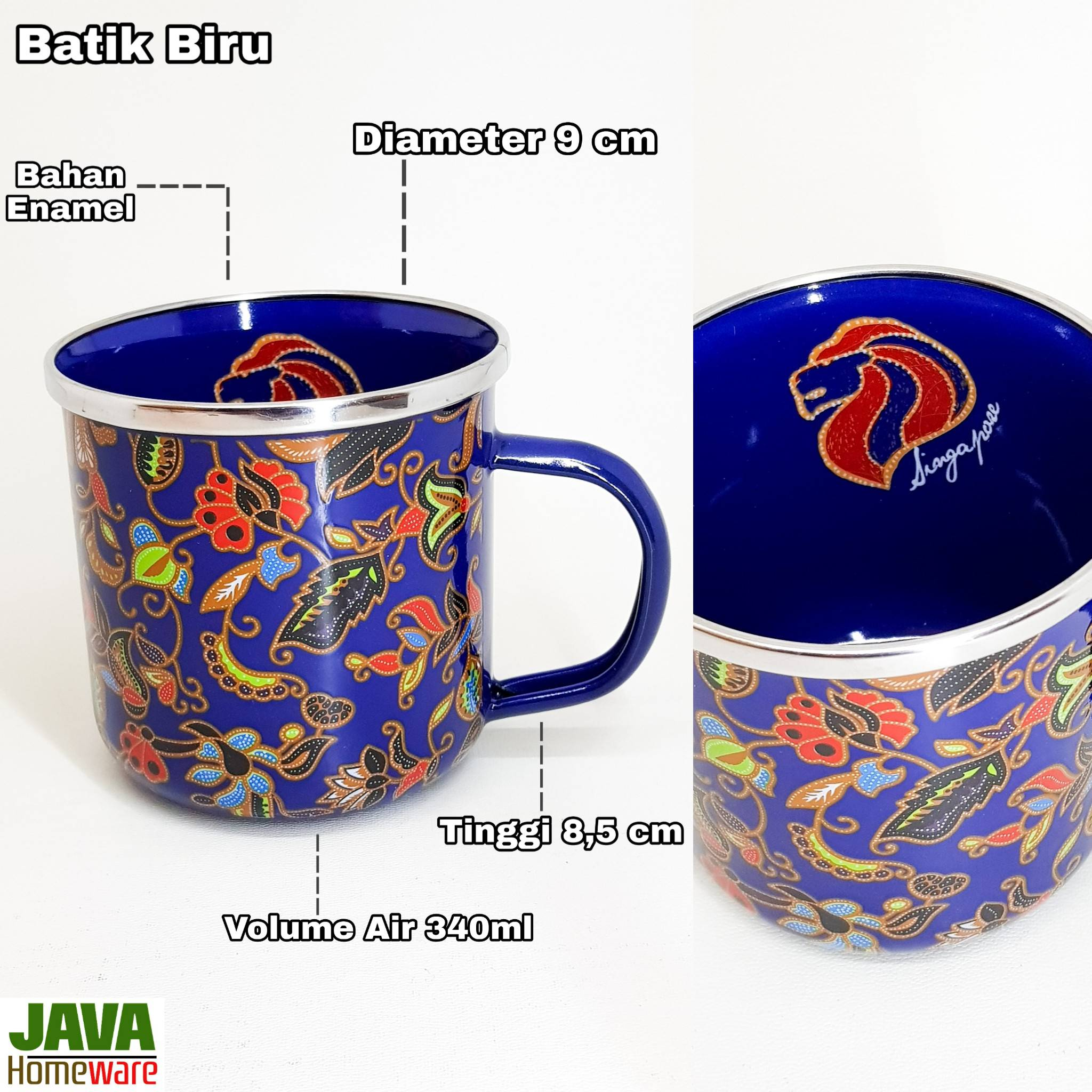 Mug Batik Biru