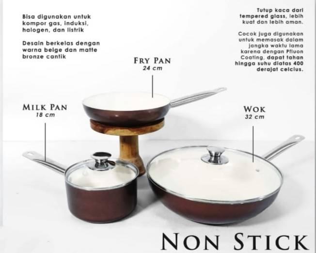 Teflon Snowhite Fry Pan 24 cm
