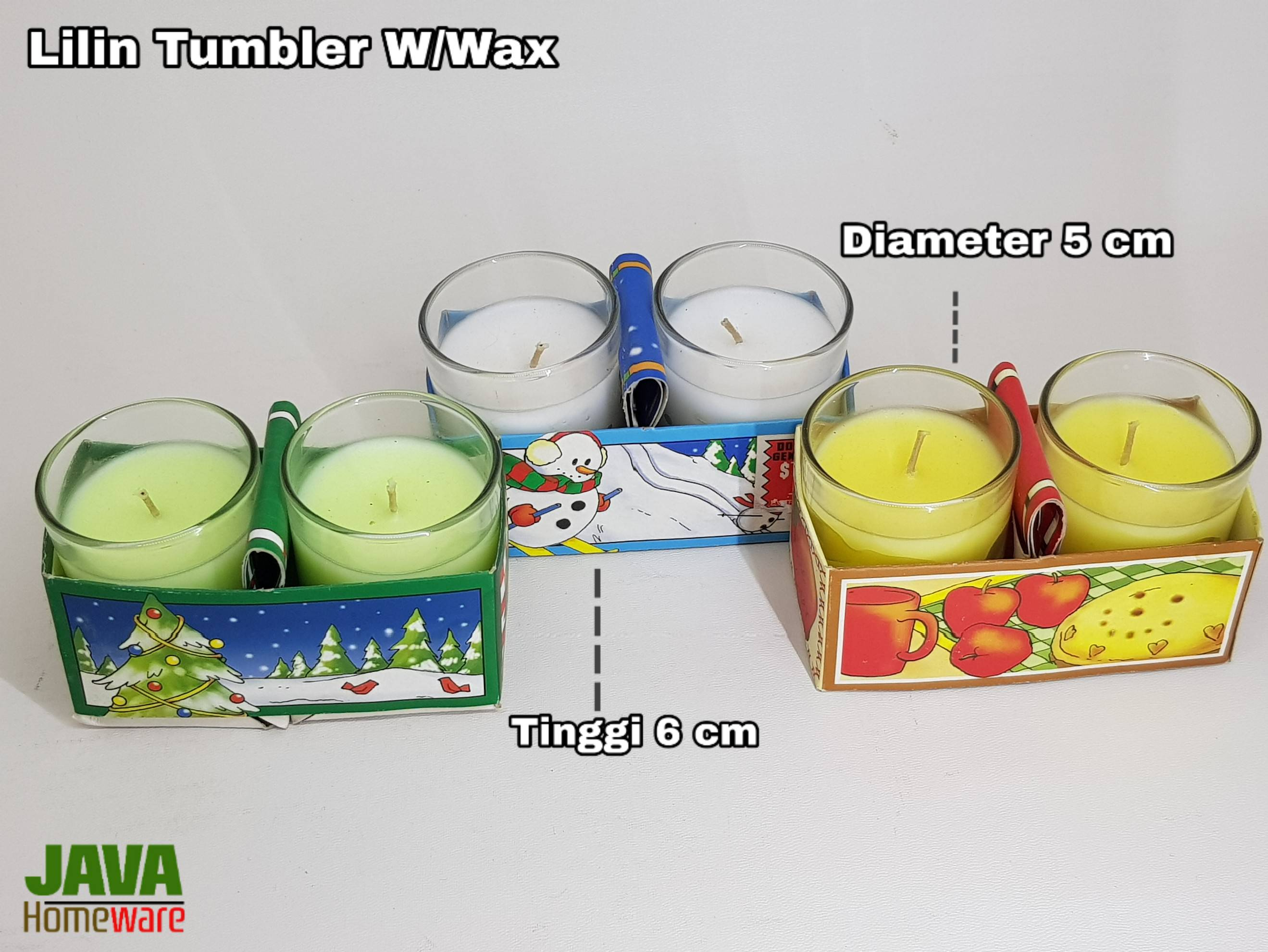Lilin Tumbler Set W/Wax