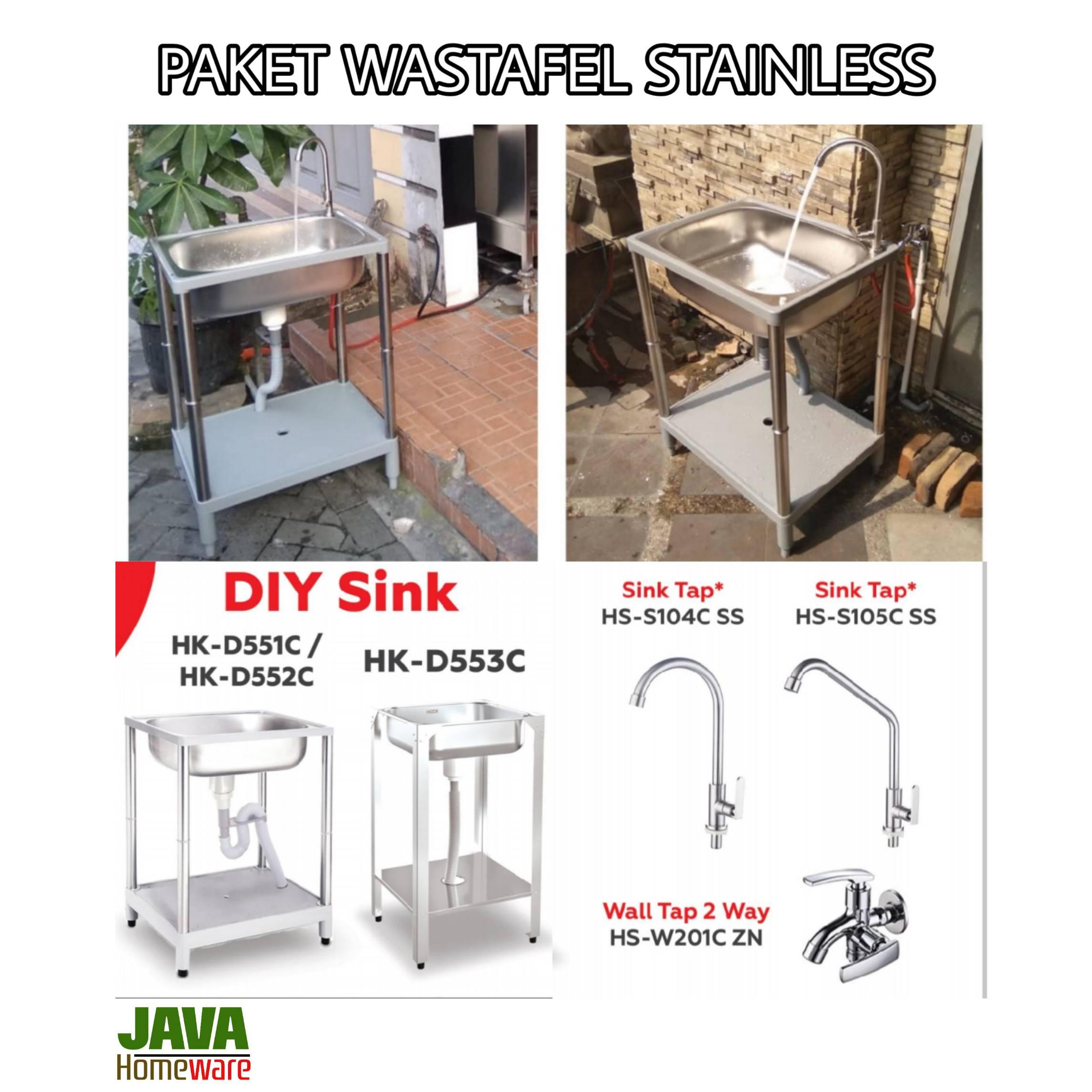Paket Wastafel Stainless