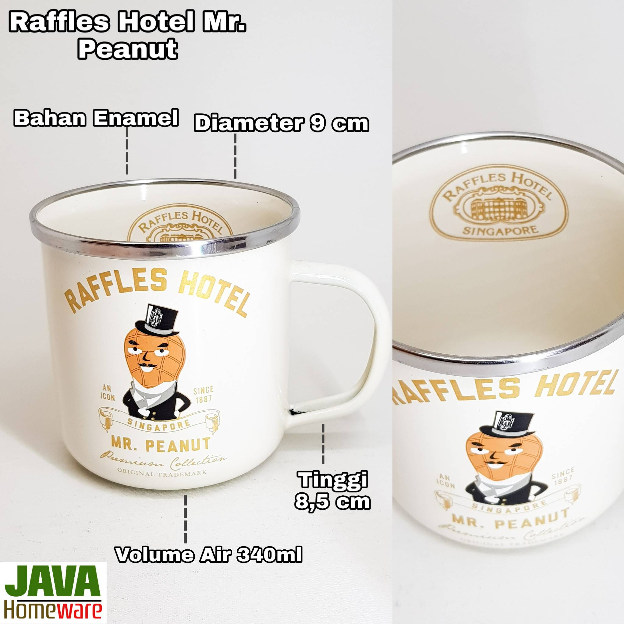 Mug Raffles Hotel Mr. Peanut
