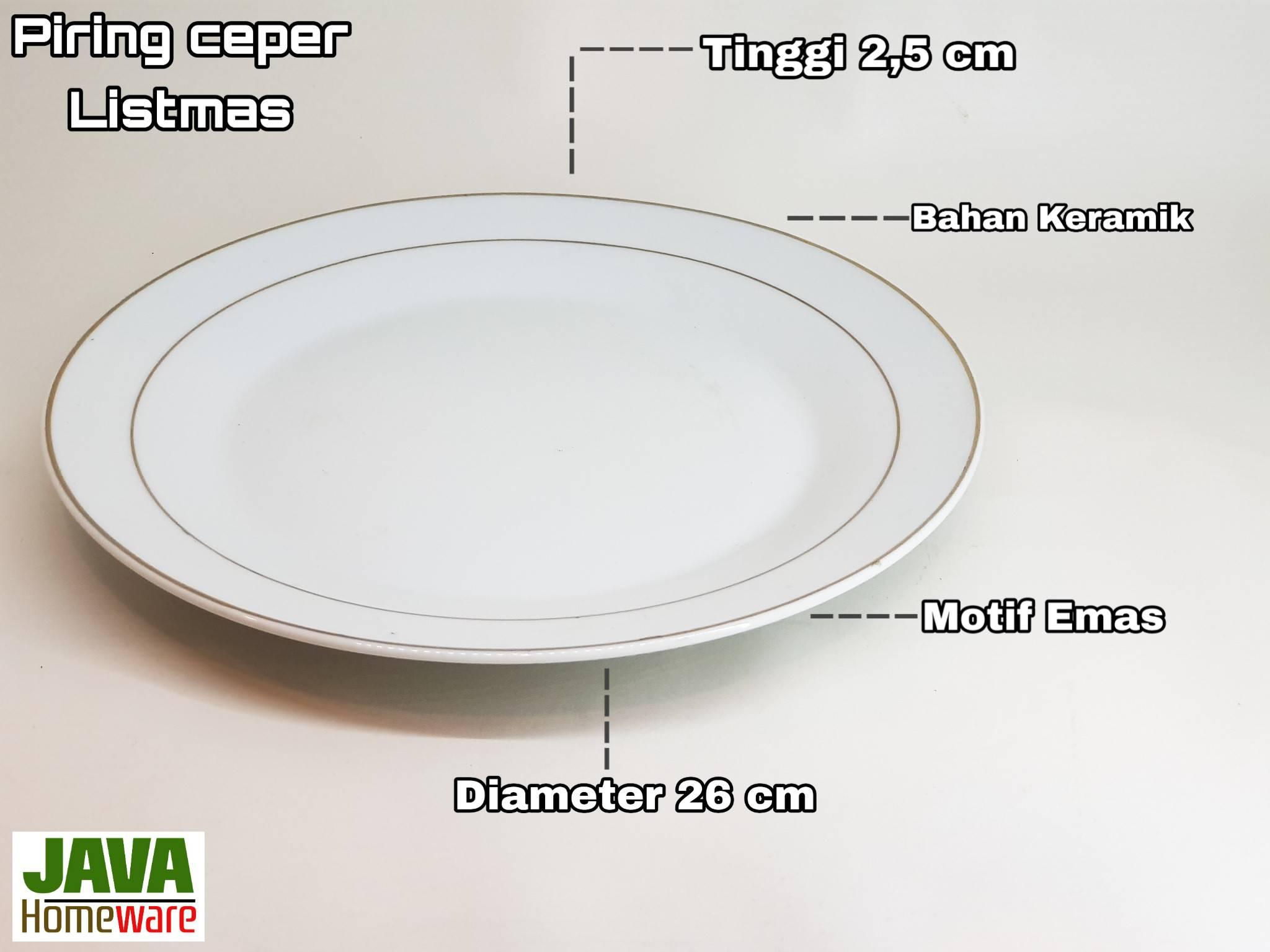 Piring Ceper Putih Listmas