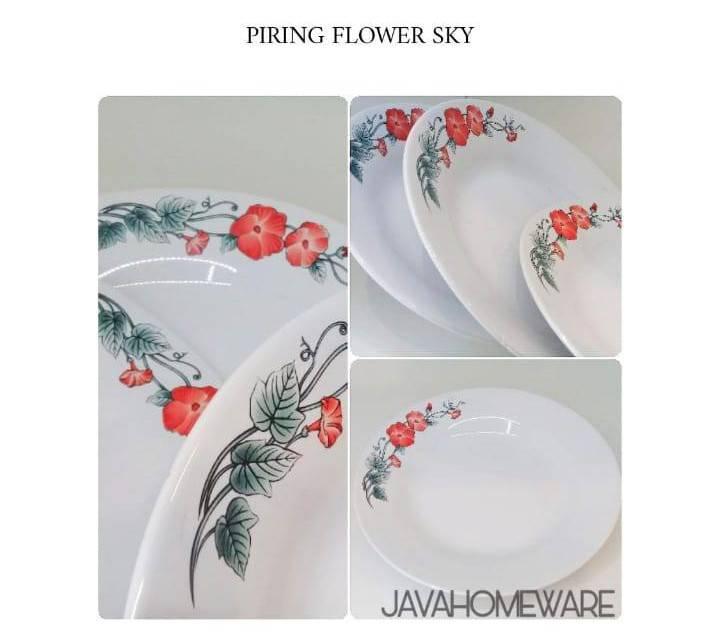 Piring Flower Sky