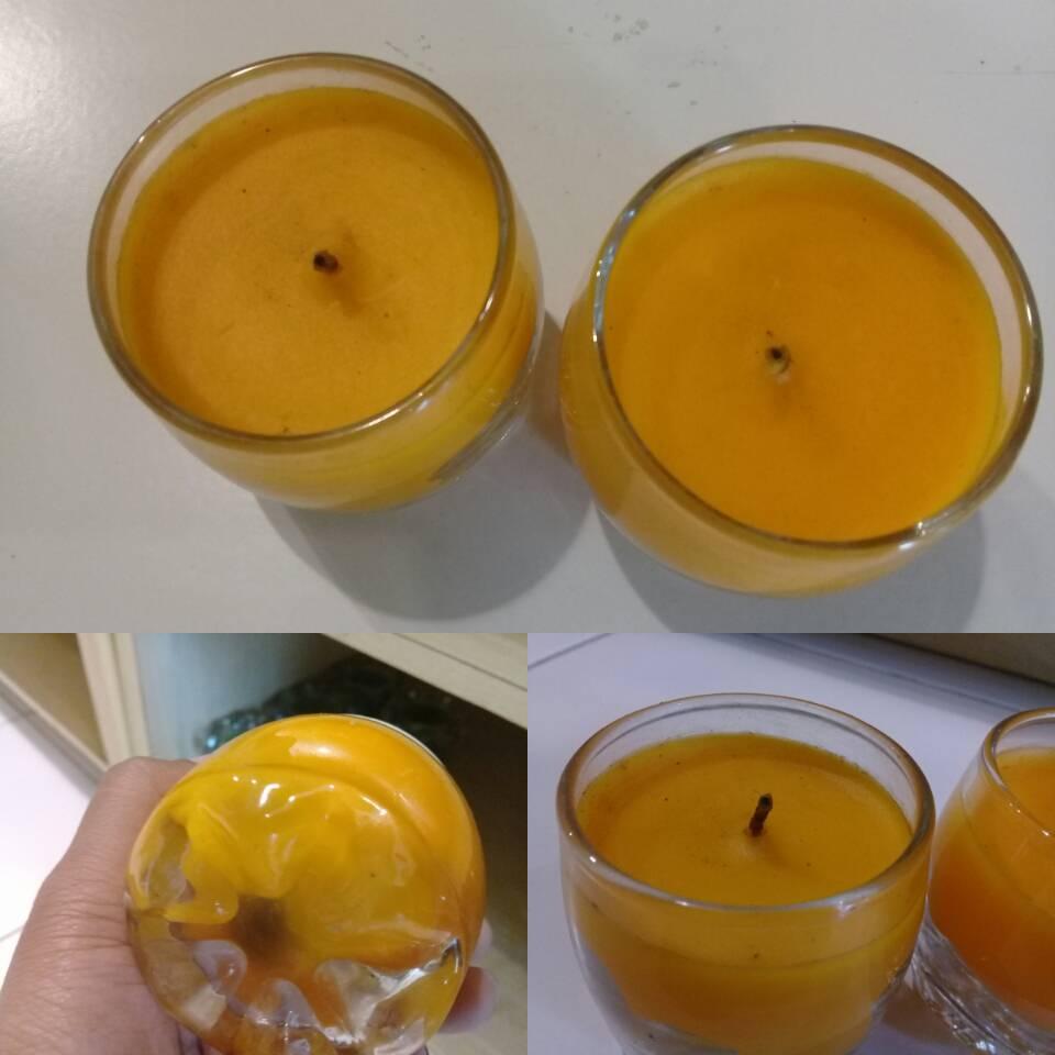 Lililn Warna Orange Dan Putih