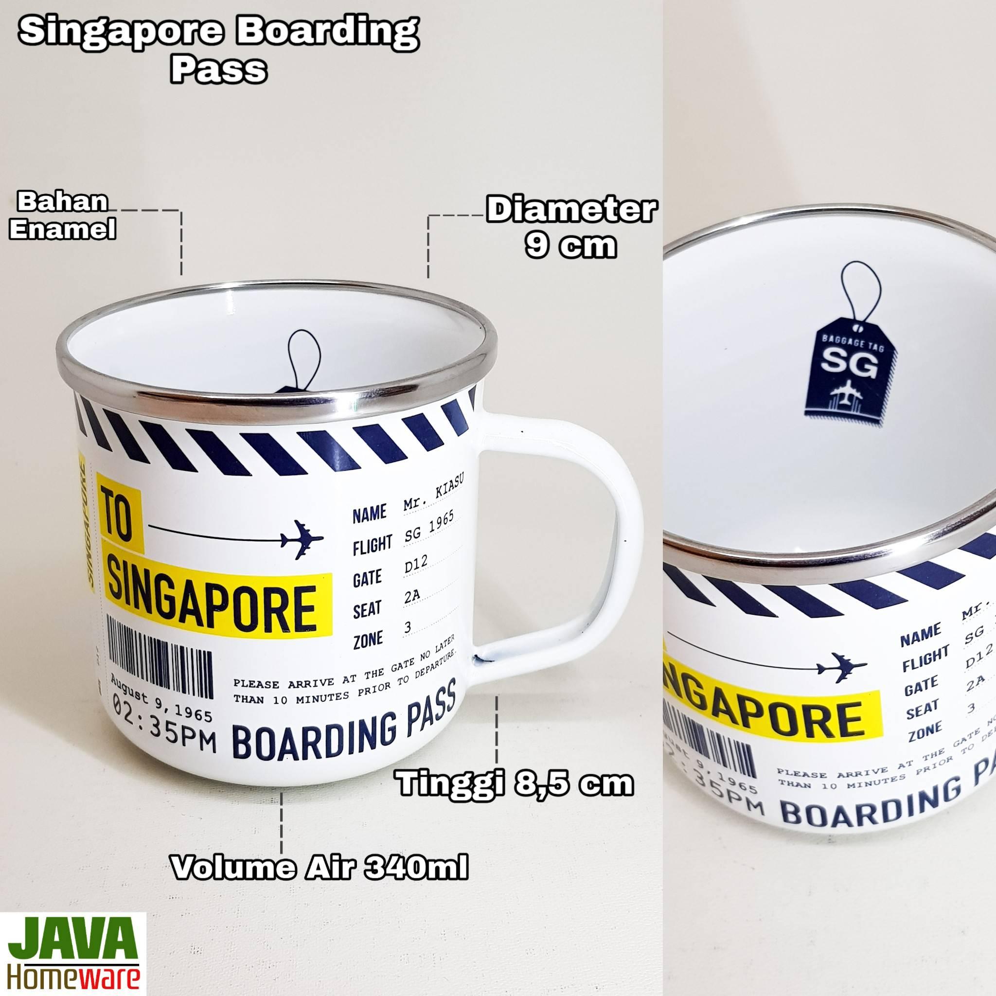Mug Singapore Boarding Pass