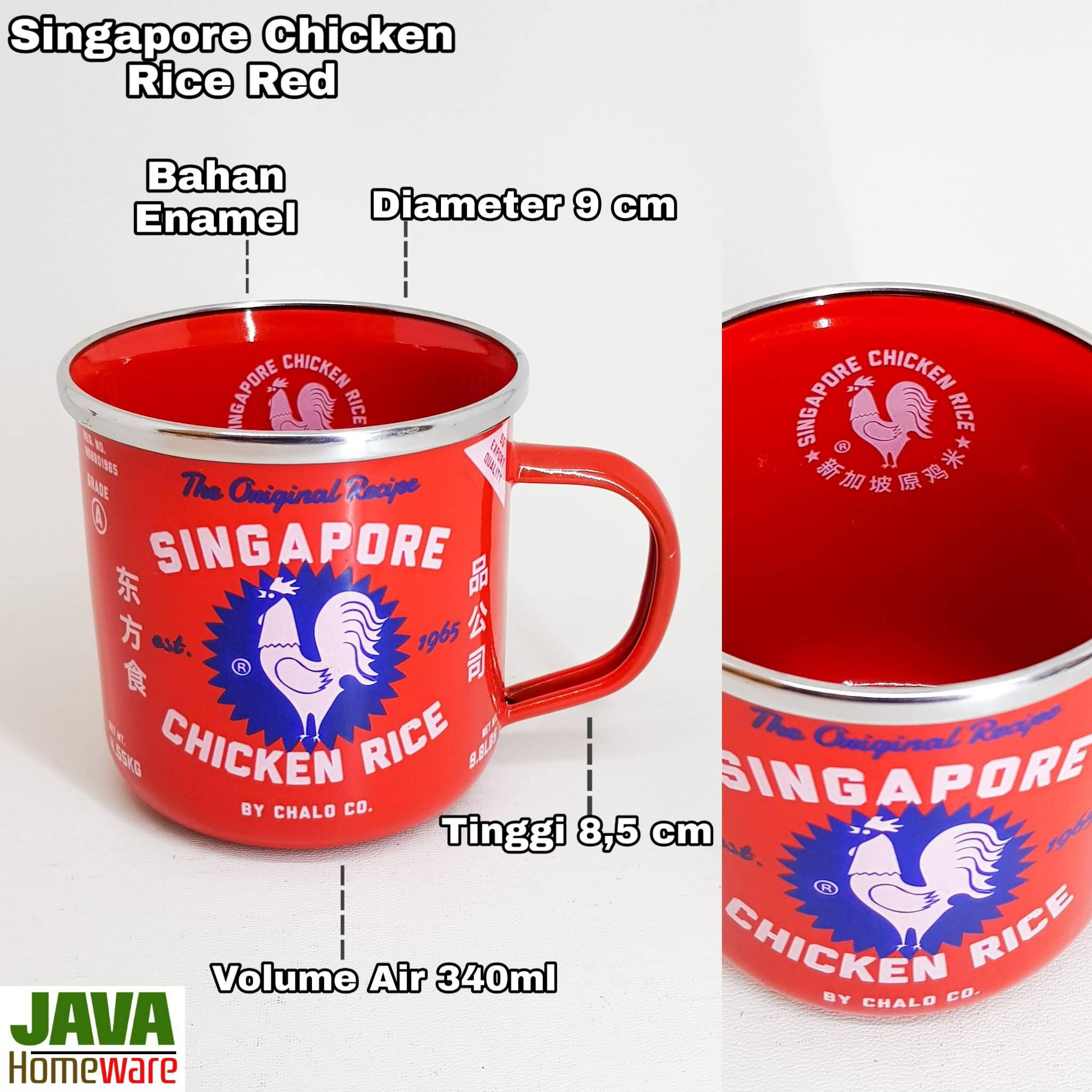 Mug Singapore Chicken Rice Red