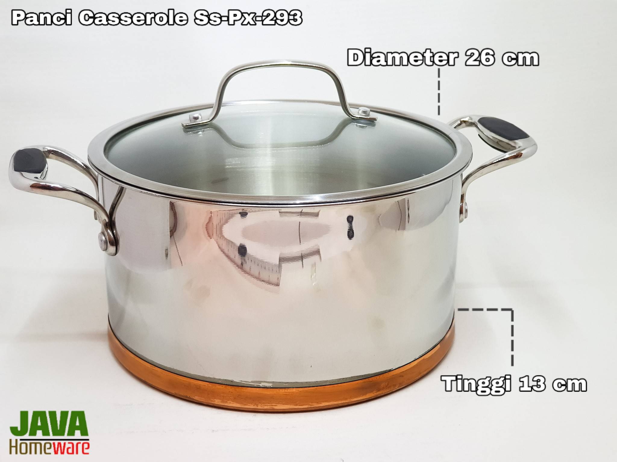 Panci stainless steel casserole SS - PX - 293