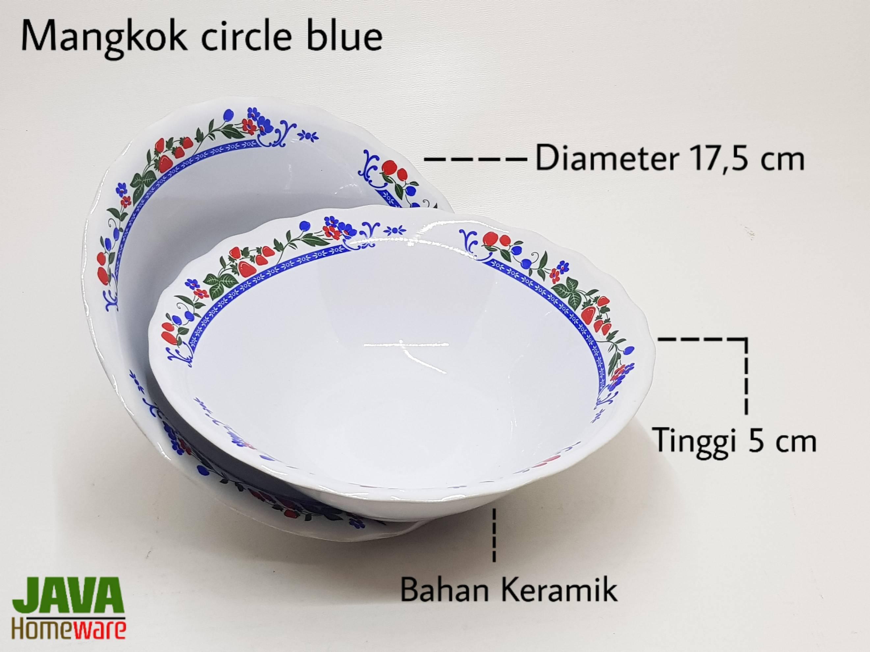 Mangkok Circle Blue