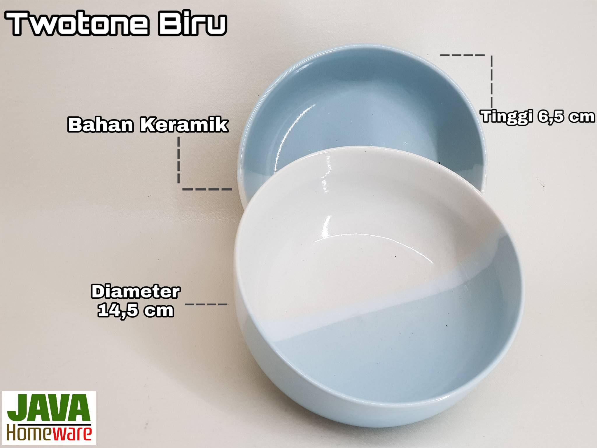 Mangkok twotone biru